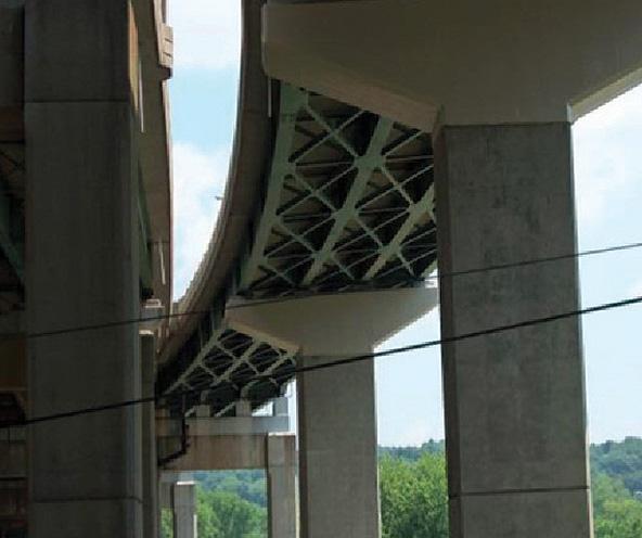 Усиление опор моста с помощью системы внешнего армирования CarbonWrap® на основе углеродных лент