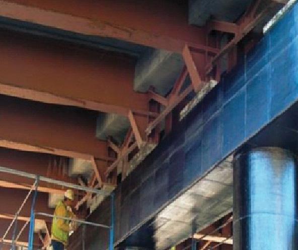 Усиление и ремонт опор моста Хопкинтон с помощью системы внешнего армирования CarbonWrap® на основе углеродных лент
