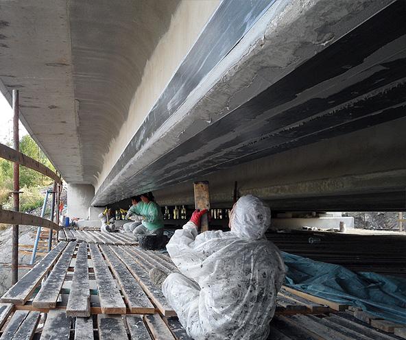 Усиление пролетных строений моста через р. Сторожевая на 24 км трассы «Выборг – Комсомольское – Светлогорск»